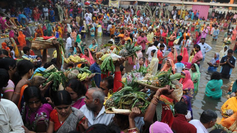 Devotees perform rituals at the Sheetla Mata temple.