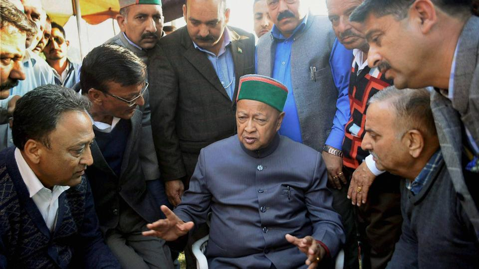 """Himachal Pradesh chief minister Virbhadra Singh has alleged that the case was """"a conspiracy to damage his public image in the run-up to the assembly elections""""."""