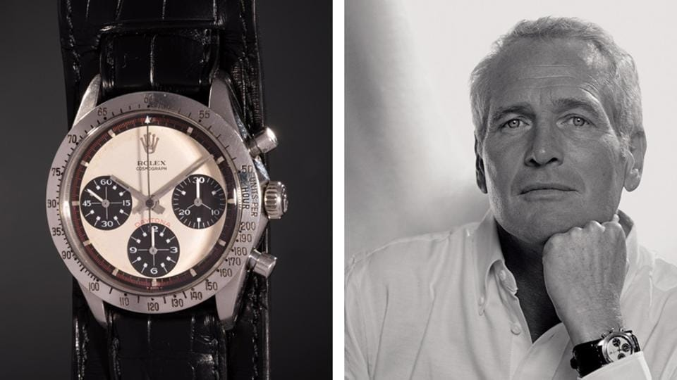 "The Rolex was a gift from Paul Newman's wife, Joanne Woodward, who engraved it, ""Drive Carefully, Me."""