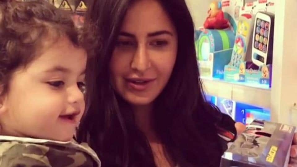 It's a rhetorical question. Both Katrina Kaif and the baby are equally cute!