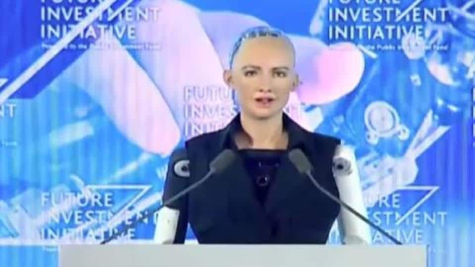 Sophia, a humanoid robot developed by Hanson Robotics, was given citizenship by Saudi Arabia.