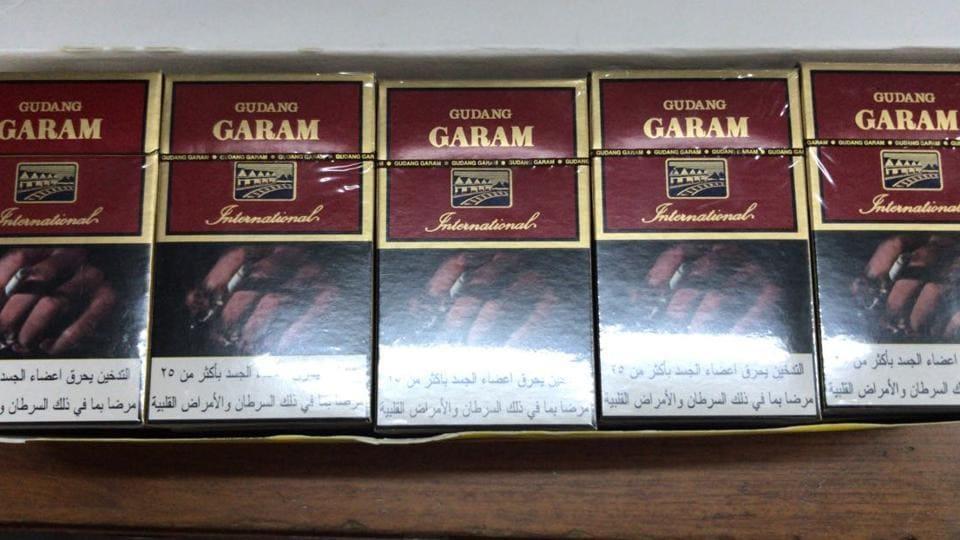 Few of the cigarettes the DRI seized.