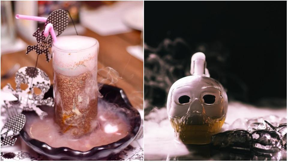Cocktails like Brain Haemorrhage and Kaala Jaadu are perfect for Halloween.