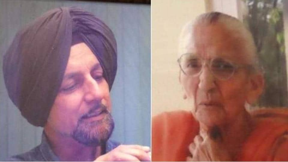 KJ Singh (64) and his mother Gurcharan Kaur (92).