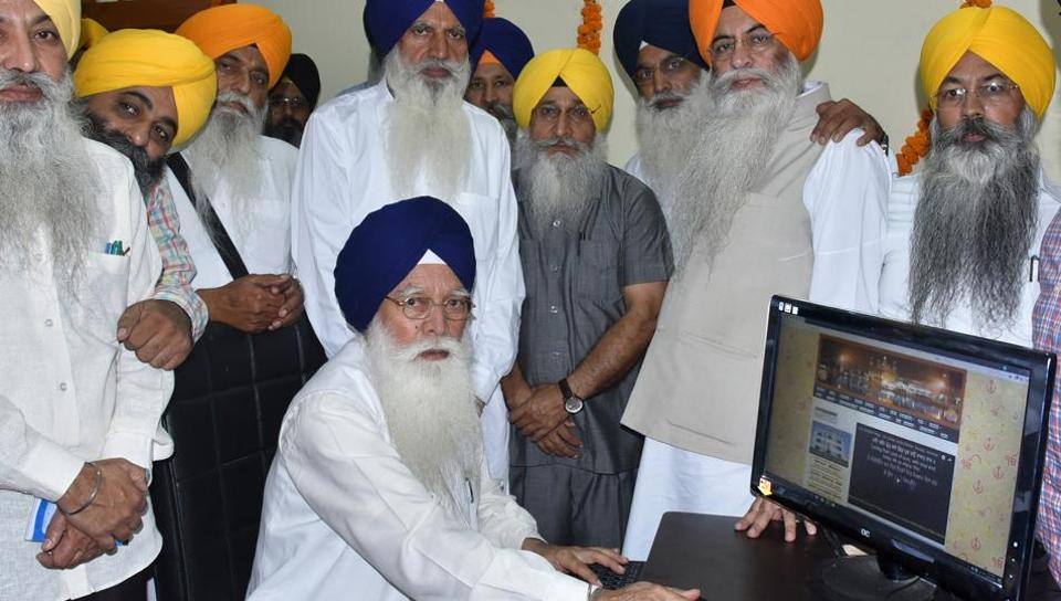 SGPC president Kirpal Singh Badungar inaugurating the new ITwing in Amritsar on Friday.