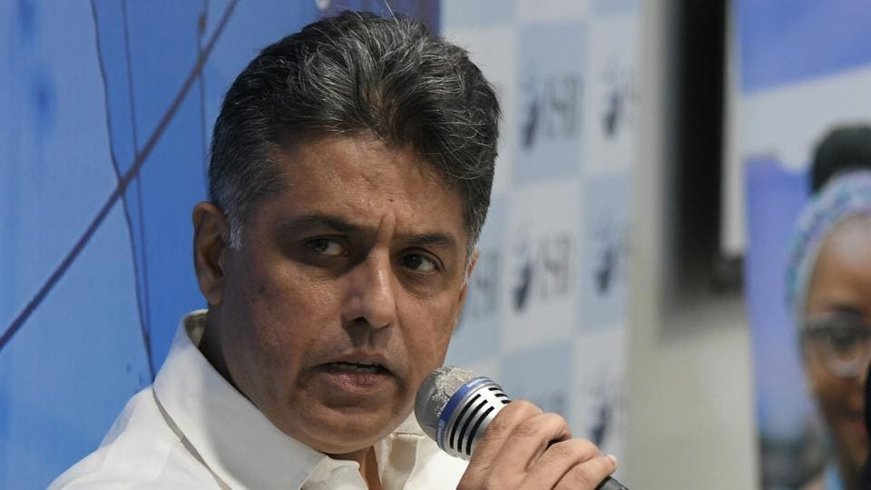 Congress leader Manish Tewari  addressing a Young Thinkers Conference at the Indian School of Business in Mohali on Friday.