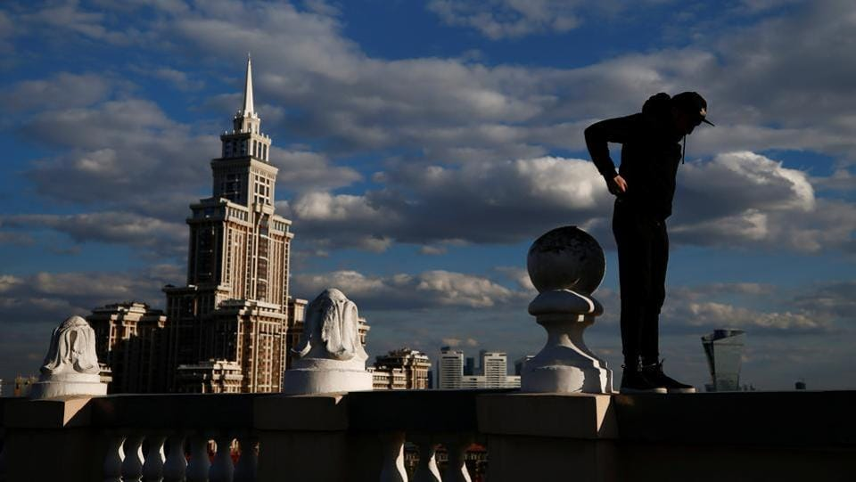 'Some are parachute jumpers. Some go to church. Some love skiing. But I walk on roofs,' said Shukhov.  (Maxim Shemetov / REUTERS)