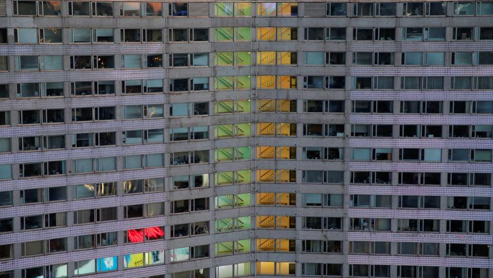 An office building facade is seen in Moscow, Russia. (Maxim Shemetov / REUTERS)
