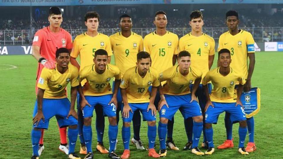 Brazil lost to England in the FIFA U-17 World Cup semi-finals in Kolkata.