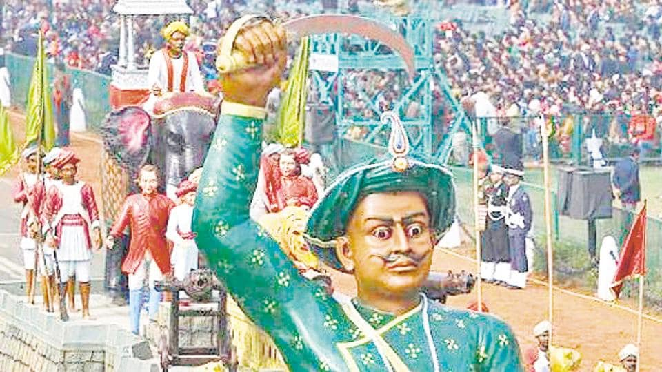 A tableau depicting the might of Tipu Sultan during a full dress rehearsal for the Republic Day Parade, New Delhi (File Photo)
