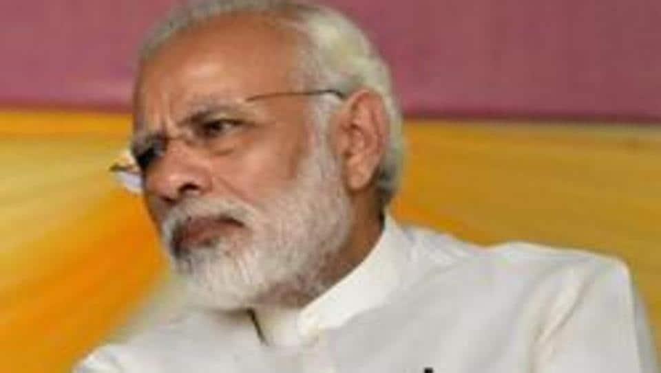 Prime Minister Narendra Modi at Patna University in  Bihar