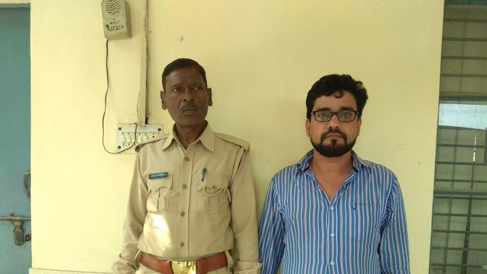 The accused, 35-year-old Ashok Mishra, a member of the school's administrative staff, was held on Tuesday.