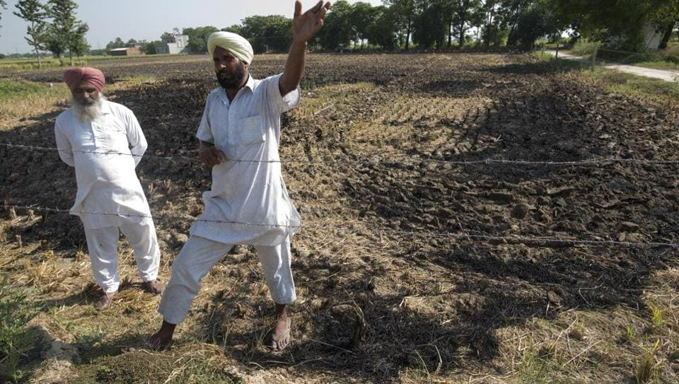 Darshan Singh, a farmer from Bandna Village talks about why farmers burn stubble. Stubble burning is the process of deliberately setting fire to the straw stubble that remains after grains have been harvested