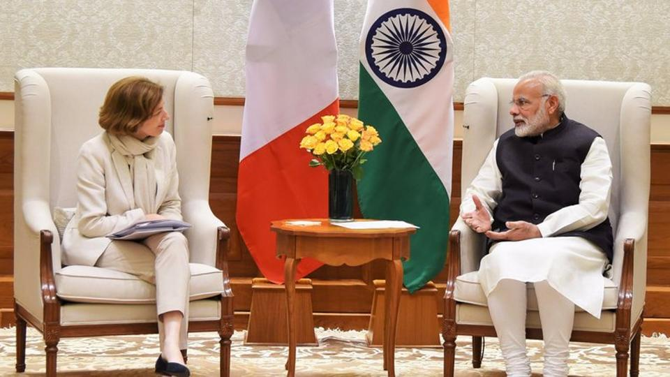 This is Florence Parly's maiden visit to India as the French Minister for the Armed Forces.