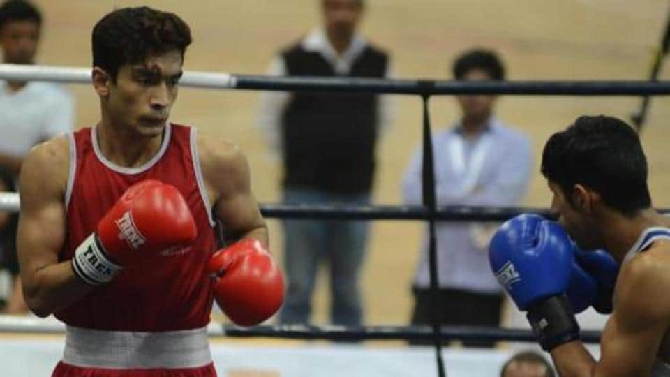 Shiva Thapa will be up against Punjab's Palwinder Singh in his lightweight semi-final against National Boxing Championship .