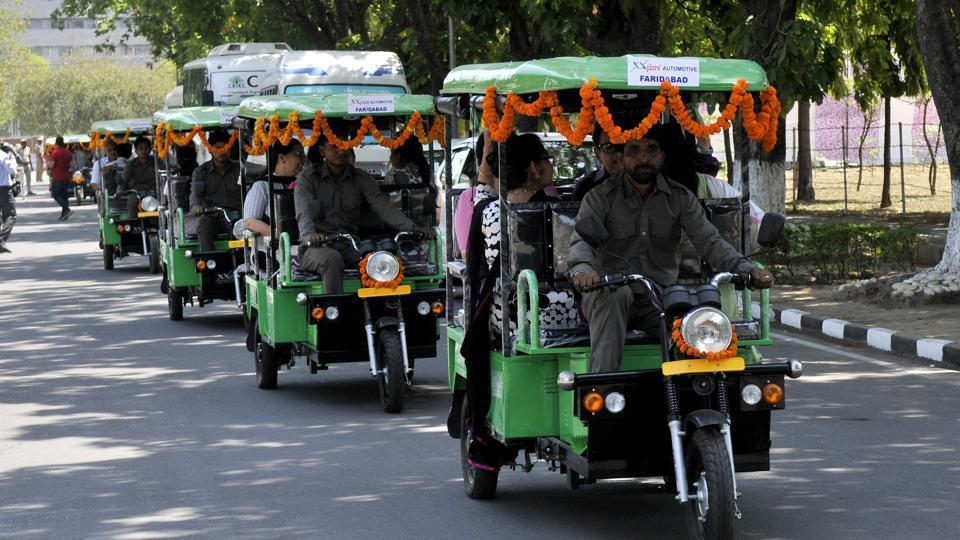 To discuss issues involving e-rickshaws across the country, including this one, Union Minister for Road Transport and Highways Nitin Gadkari has convened a meeting of all stakeholders on Monday morning.