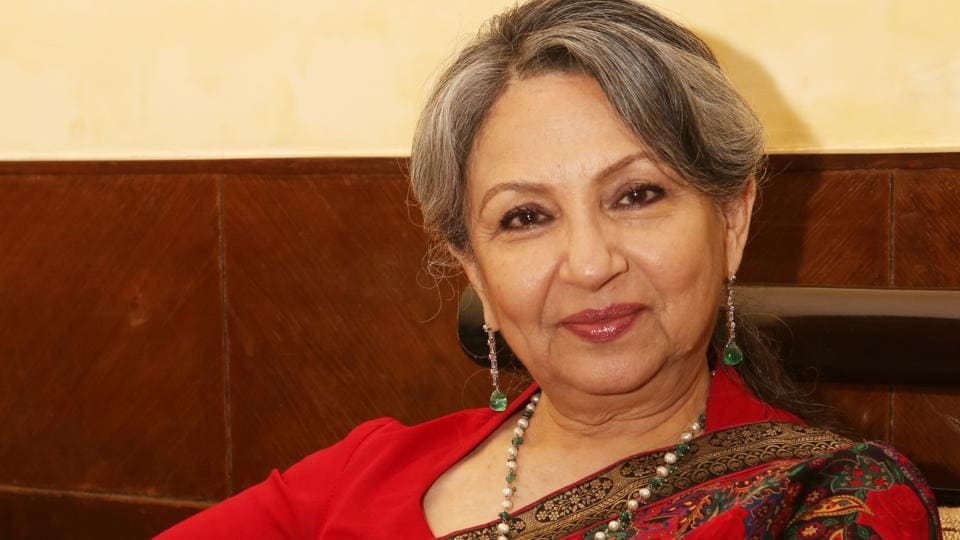 Actor Sharmila Tagore at a recent event where she was awarded the life time achievement award.