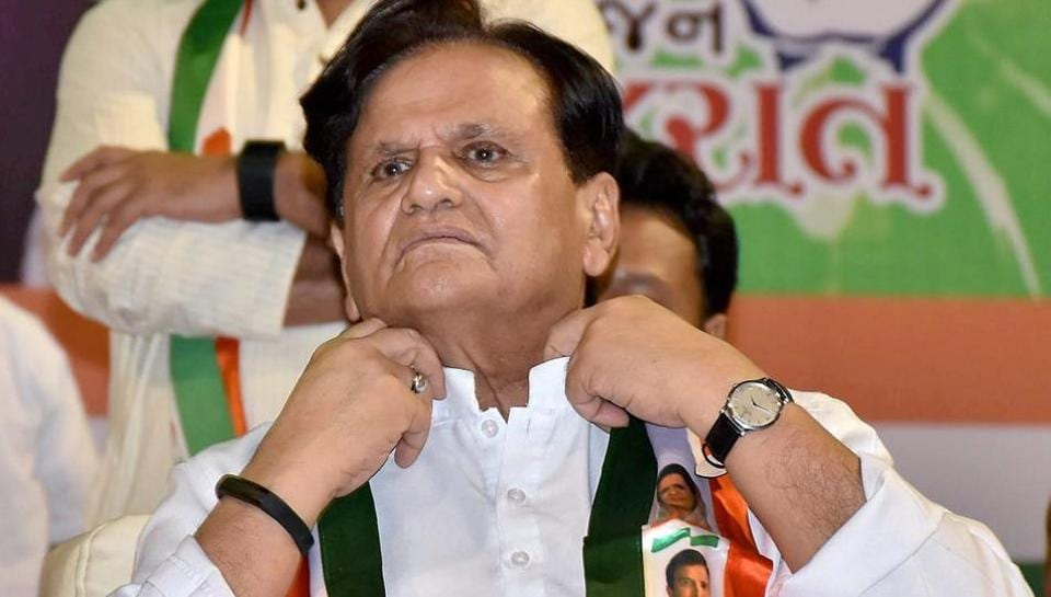 Congress leader Ahmed Patel at the party's 'Satya Vijay Sammelan' programme in Surat.