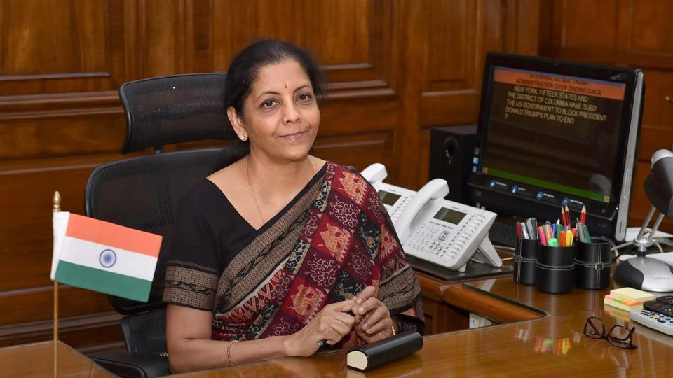 Defence minister Nirmala Sitharaman at her office in New Delhi.
