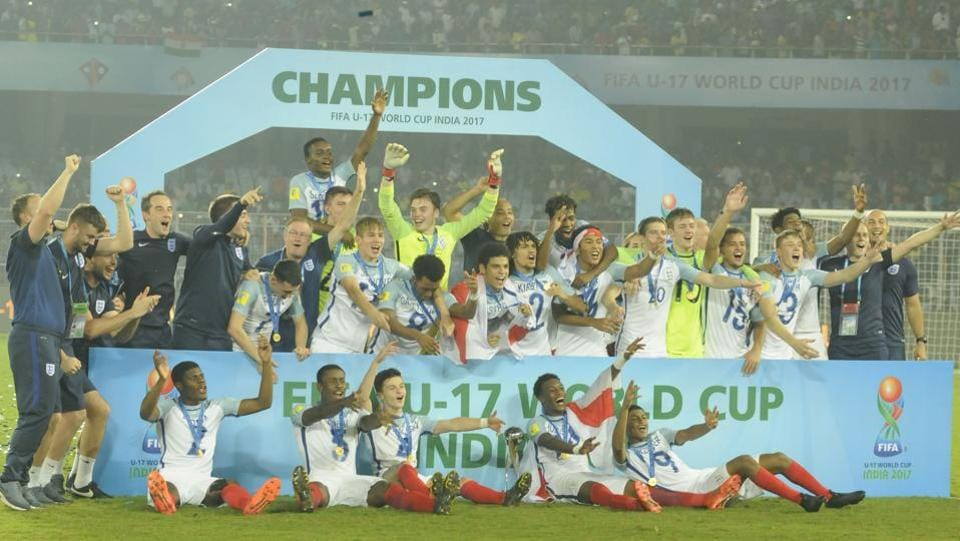 England now hold the World Cup titles in both the U-17 and U-20 age groups. (Samir Jana/HT PHOTO)