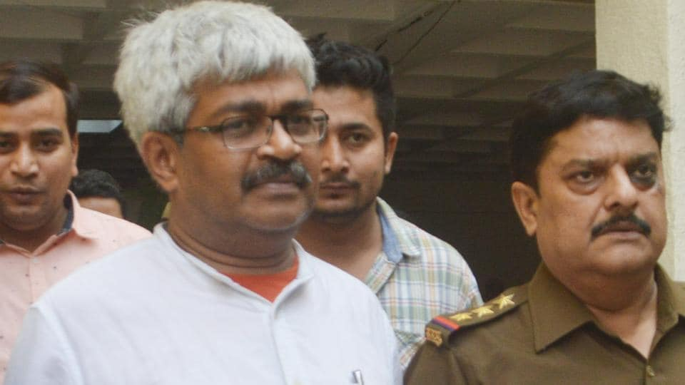 Journalist Vinod Verma was arrested and produced before a Ghaziabad court on Friday in a case over alleged extortion attempt on the basis of a sex CD purportedly involving  Chhattisgarh PWD minister