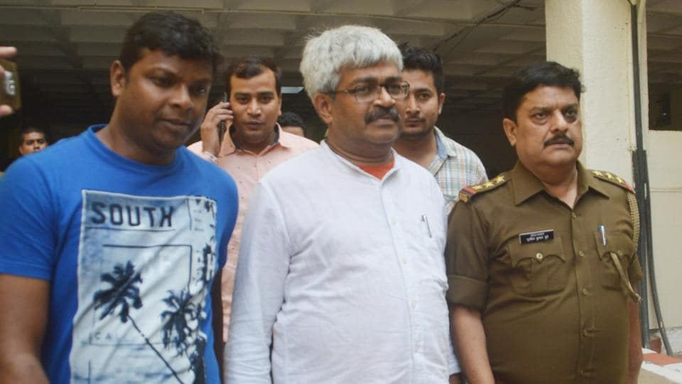 Journalist Vinod Verma was arrested and produced before a Ghaziabad court on Friday in a case over alleged extortion attempt on the basis of a sex CD purportedly involving Chhattisgarh PWD minister.