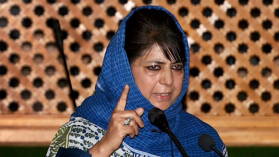 Jammu and Kashmir chief minister Mehbooba Mufti.
