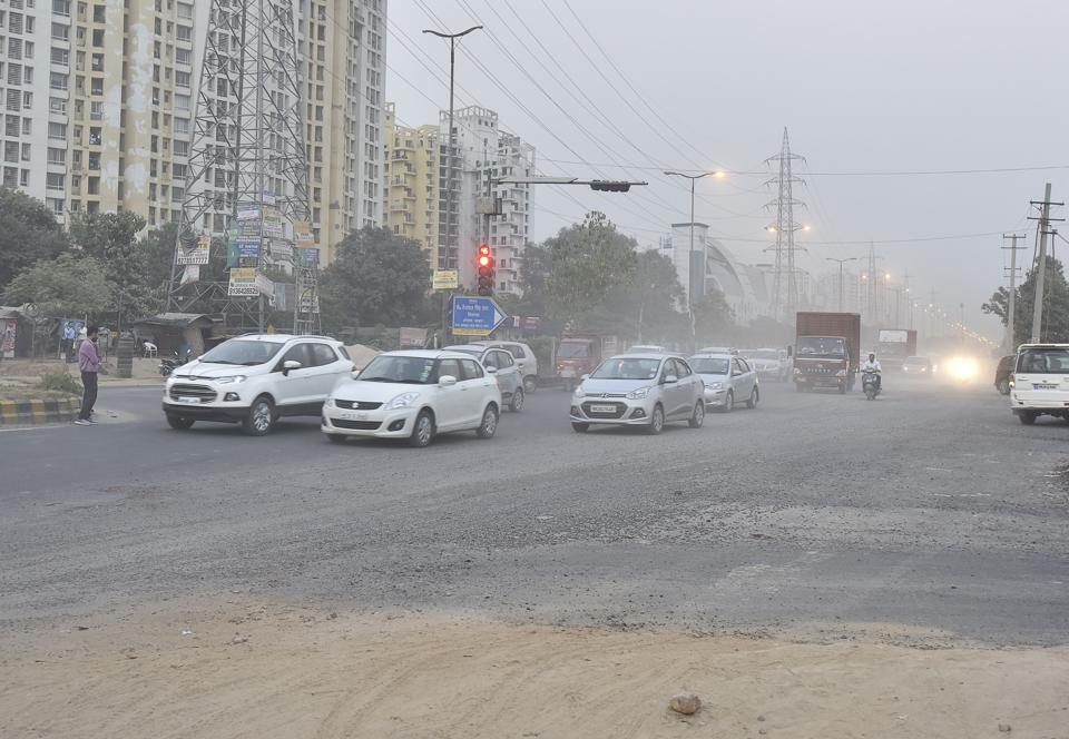 Protest against dust and pollution,Sohna Road,Gurugram