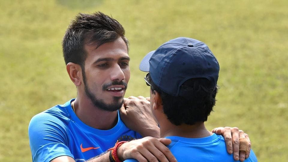 Yuzvendra Chahal during a practice session ahead of the Kanpur ODI. The leggie took two wickets in the Pune game.  (PTI)
