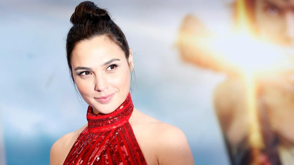 Gal Gadot poses at the premiere of Wonder Woman in Los Angeles, California.