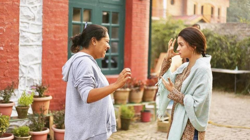 Meghna Gulzar and Alia Bhatt in a photo from the sets.