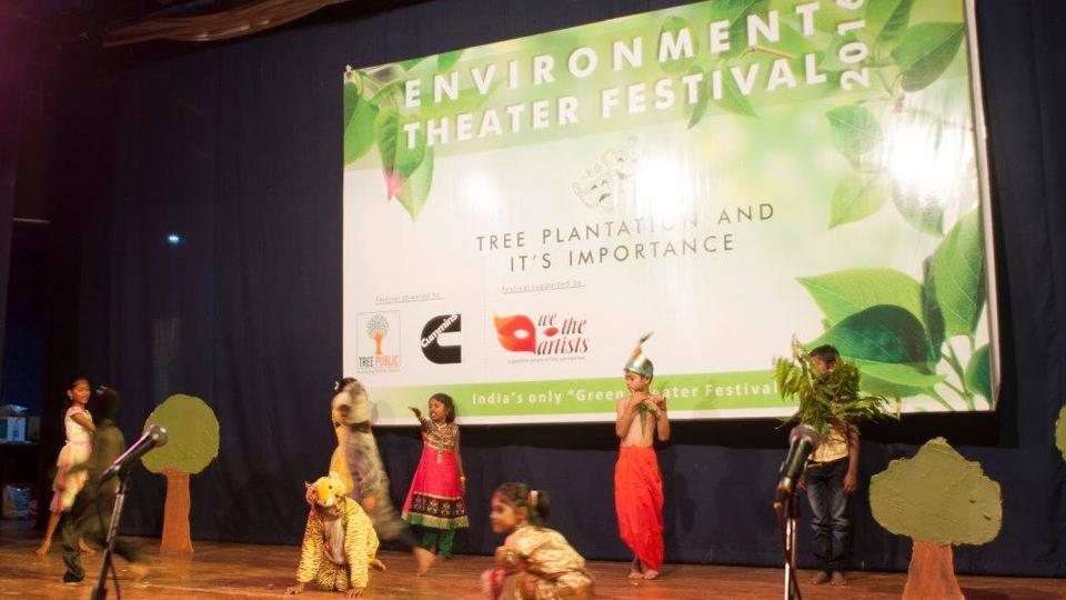 A still from one of the children plays of Environment Theatre Festival 2016.