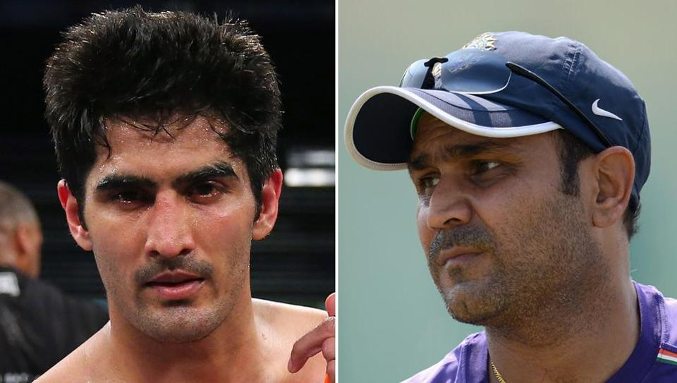 Virender Sehwag wished Vijender Singh in his own unique style.