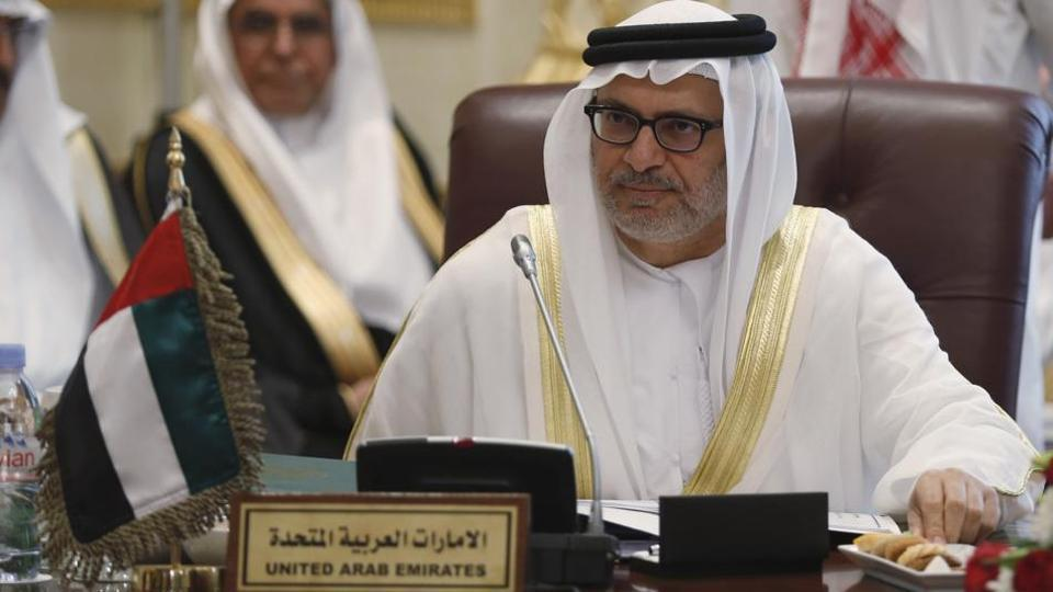 File photo of UAE's minister of state for foreign affairs Anwar Gargash.