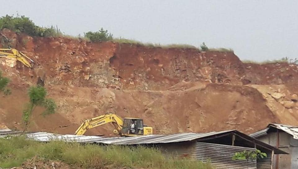 Vadavali hills,excavation,green cover
