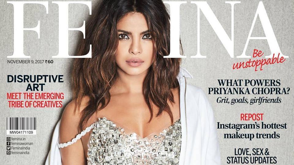Priyanka Chopra on the cover of Femina.