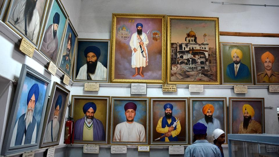 A view of the Central Sikh Museum at the Golden Temple in Amritsar.