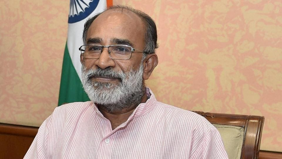 Alphons Kannanthanam in his office at New Delhi.
