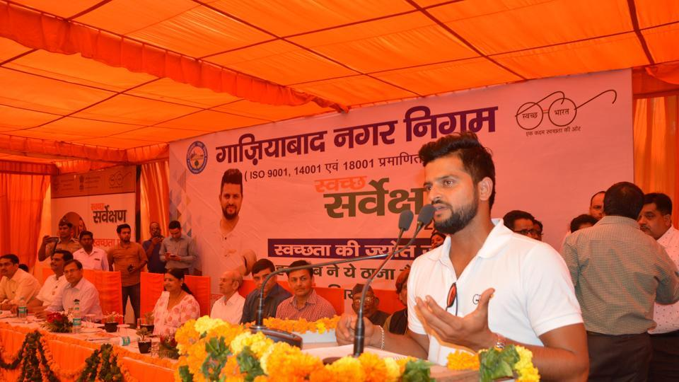 Raina expressed concerns over the prevailing pollution level, especially after Diwali.