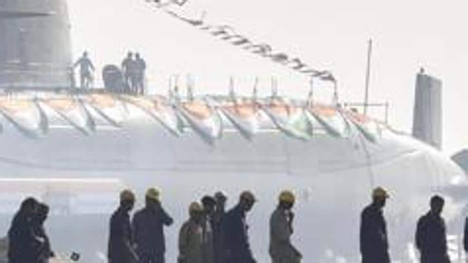 Khanderi, the second of Indian Navy's Scorpene' class stealth submarine.