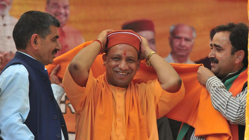 UP CM Yogi Adityanath is also campaigning for the party candidates in Himachal Pradesh..