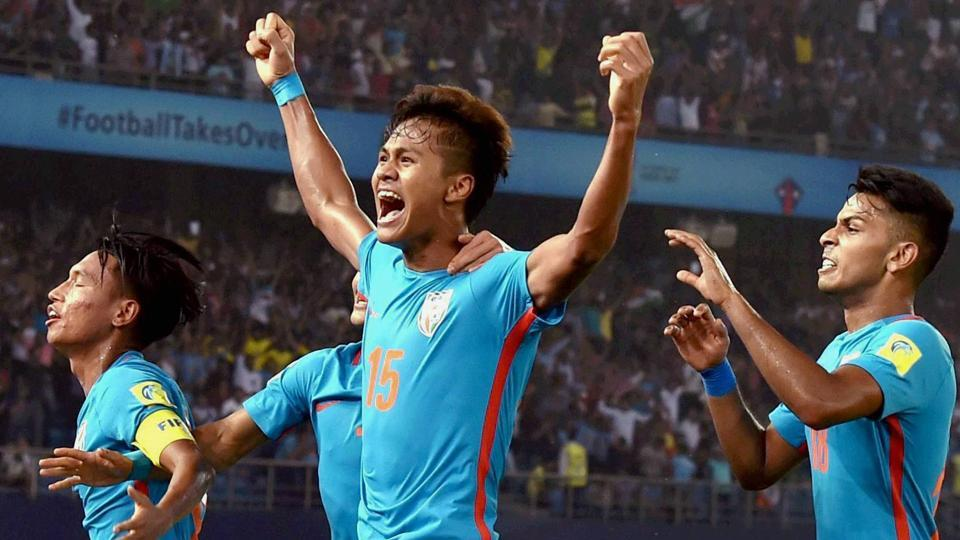 Jeakson Thounaojam became the first Indian player to score a goal at the FIFAU-17 World Cup.