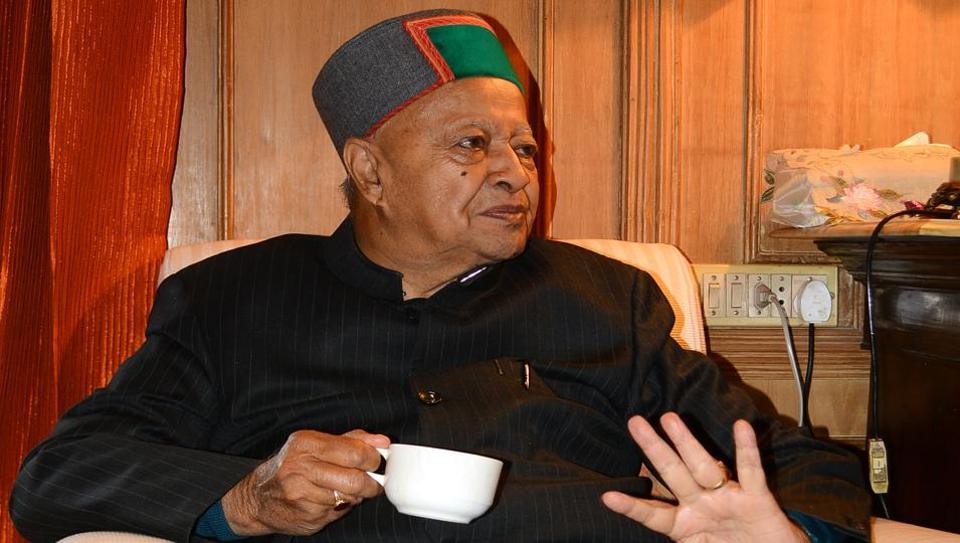 Himachal Pradesh chief minister Virbhadra Singh.