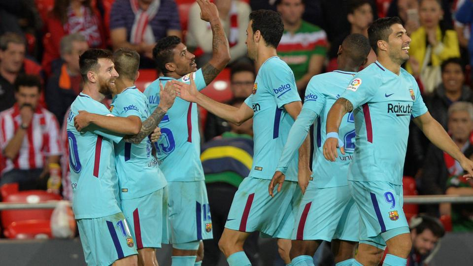 Lionel Messi scored as F.C. Barcelona continued on their great run in the 2017/18 season by winning 2-0 against Athletic Bilbao.