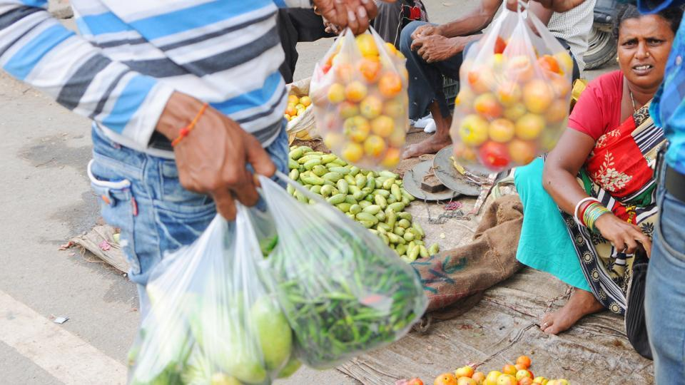 The street vendors, vegetable grocers and local shops are, however, still using the product in large numbers. Only a section of the shops have shifted to bags thicker than 50 microns.