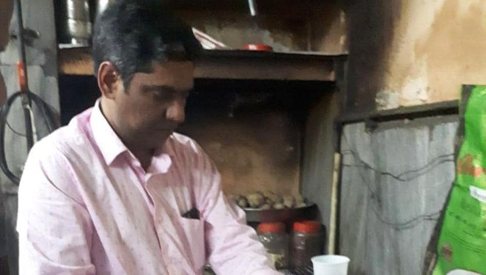 A food safety official collecting samples from a restaurant in Dehradun after a video claimed that 'plastic rice' was being allegedly served at the eatery.