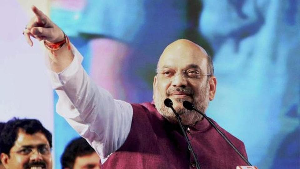 BJP chief,Amit Shah,campaign trail