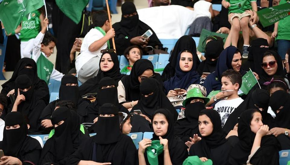 Saudi Arabia,Women rights in Saudi Arabia,Saudi women in sports stadium