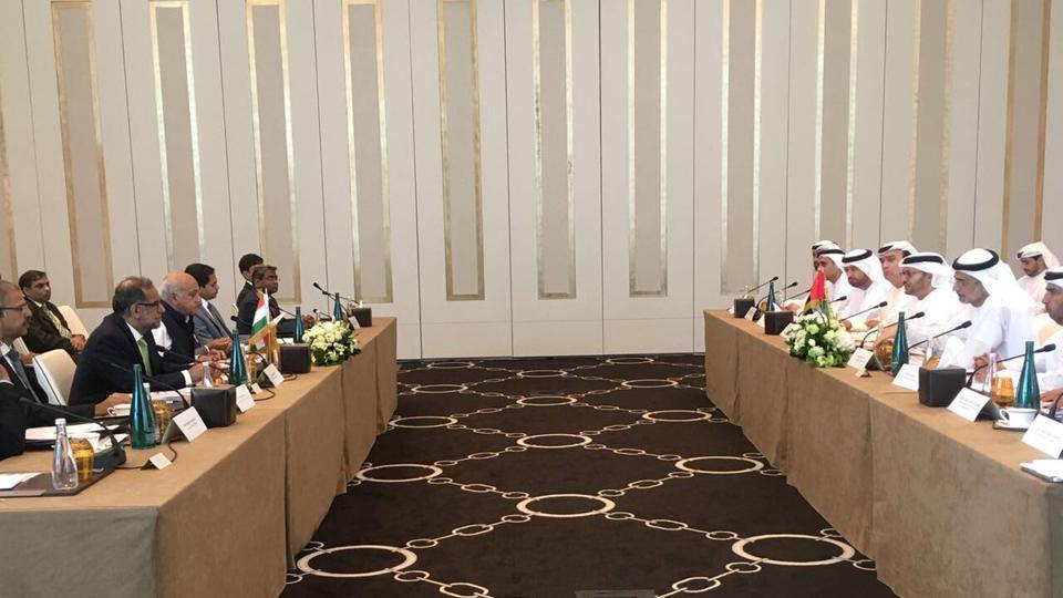 The Indian delegation at the talks held yesterday was led by Minister of State for External Affairs M J Akbar while the UAE side was headed by its Minister of State for Foreign Affairs Anwar Gargash.
