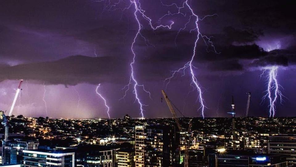 Australia Over Lightning Strikes Witnessed On Sunday - Storm chaser gets struck lightning films